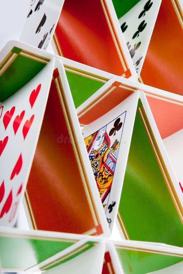 Estrutura de casa de cartão fotos de stock royalty free