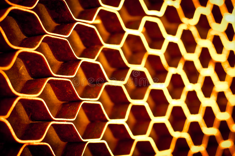 Estrutura de favo de mel abstrata do metal imagens de stock