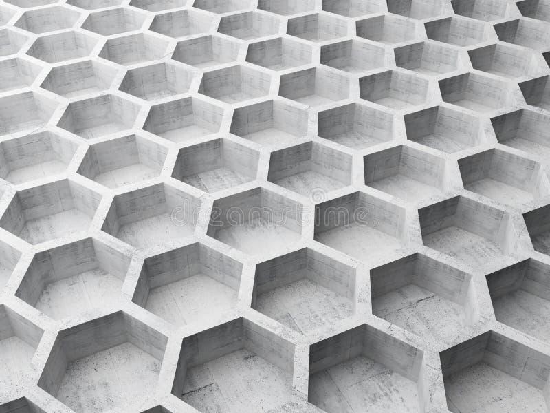 Estrutura de favo de mel concreta cinzenta ilustração royalty free