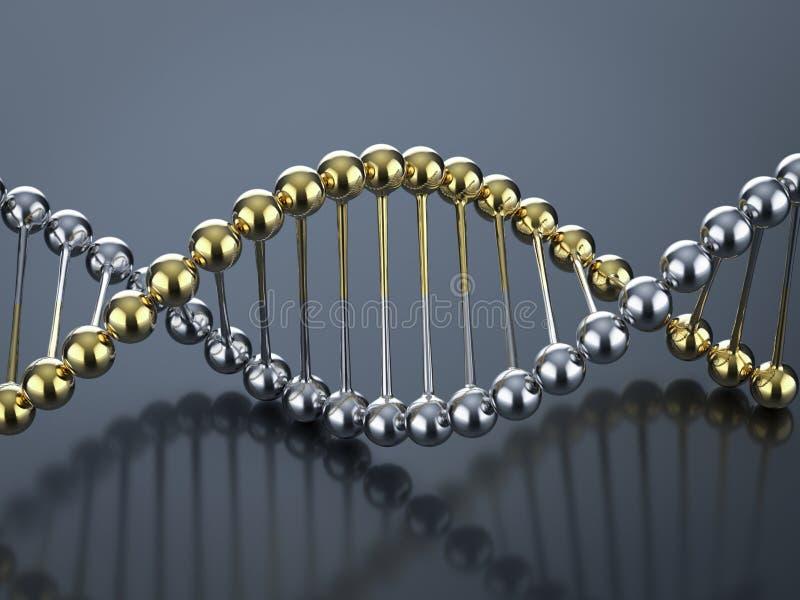 Estrutura de h?lice do ADN ilustração royalty free