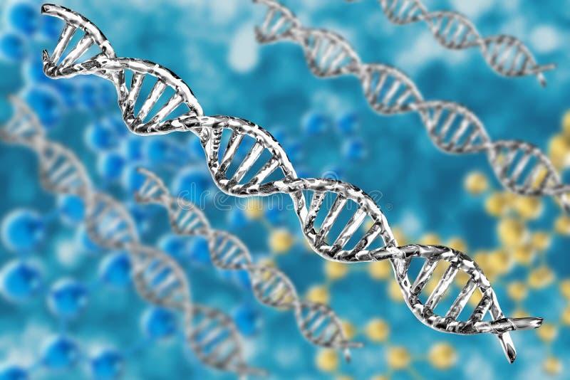 Estrutura de prata do ADN ilustração royalty free