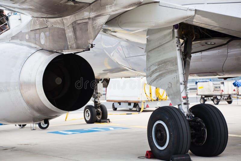 Estrutura de um avião foto de stock