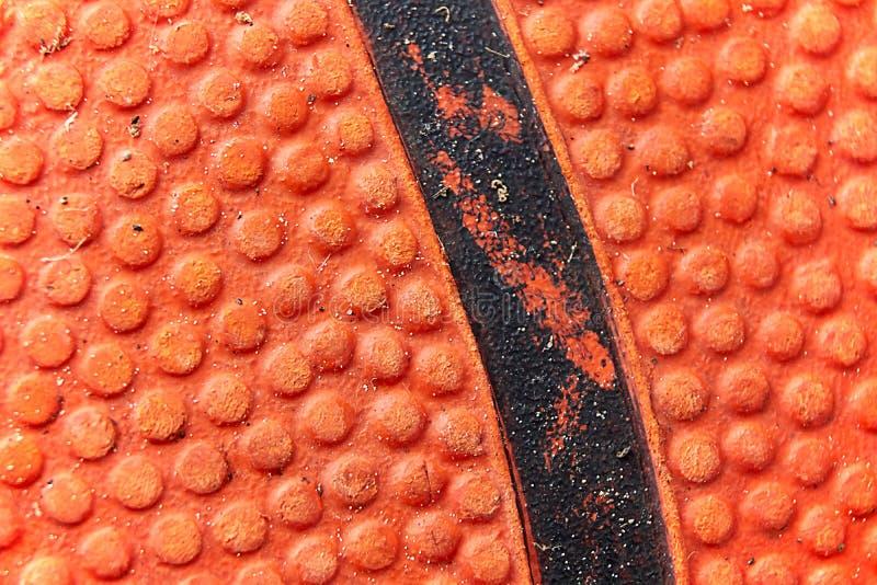 Estrutura de um basquetebol usado foto de stock