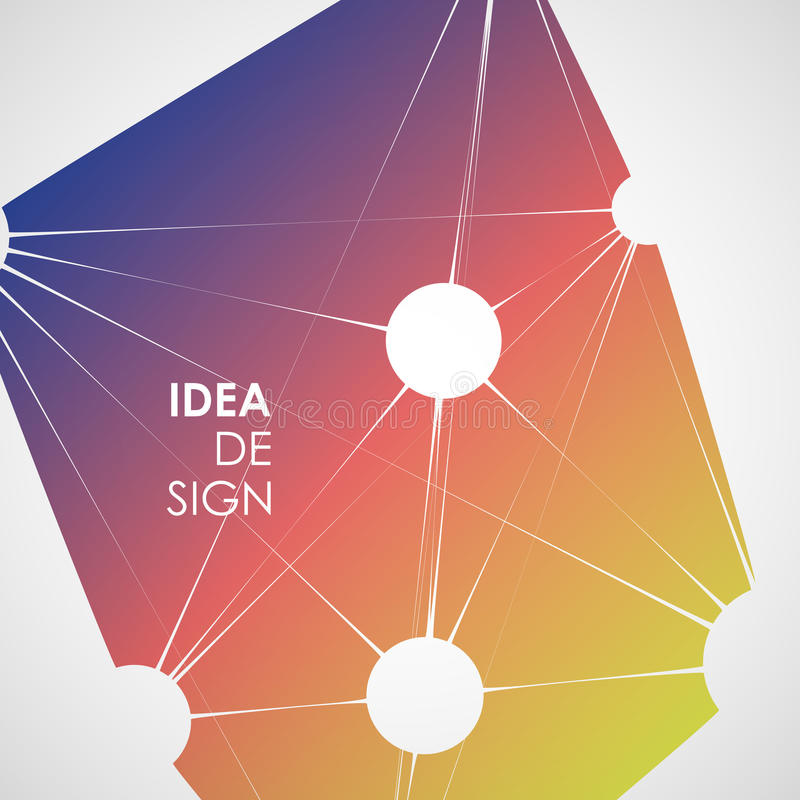 Estrutura dinâmica da molécula Ciência e conceito da conexão Bola abstrata dos neurônios ilustração stock