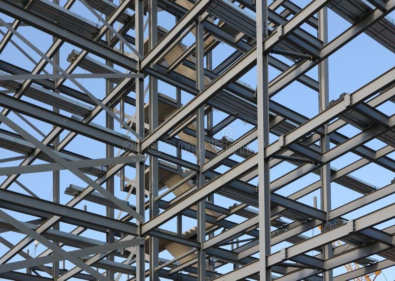 Estrutura do aço estrutural foto de stock