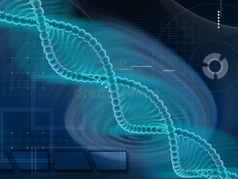 Estrutura do ADN ilustração stock