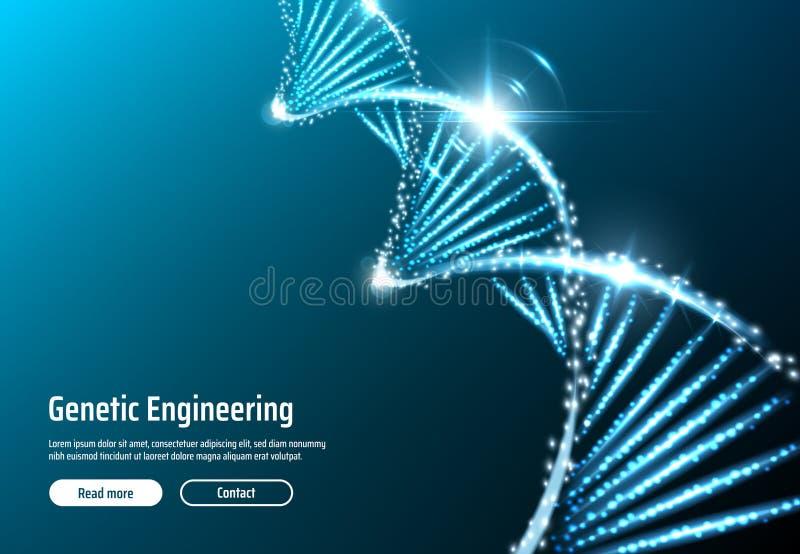 Estrutura do ADN, app da Web da genética, vetor ilustração do vetor