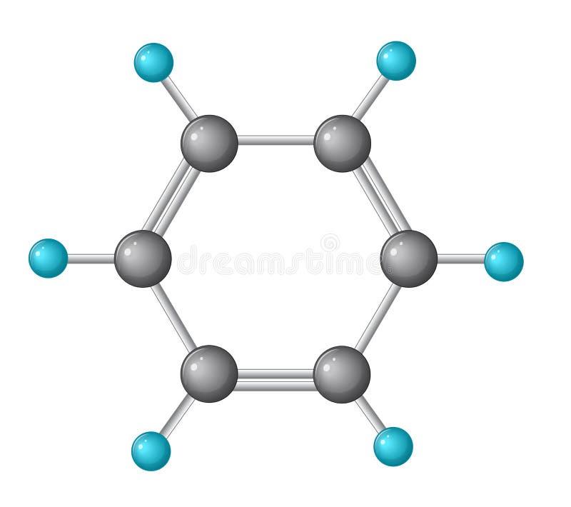 Estrutura do benzeno ilustração stock
