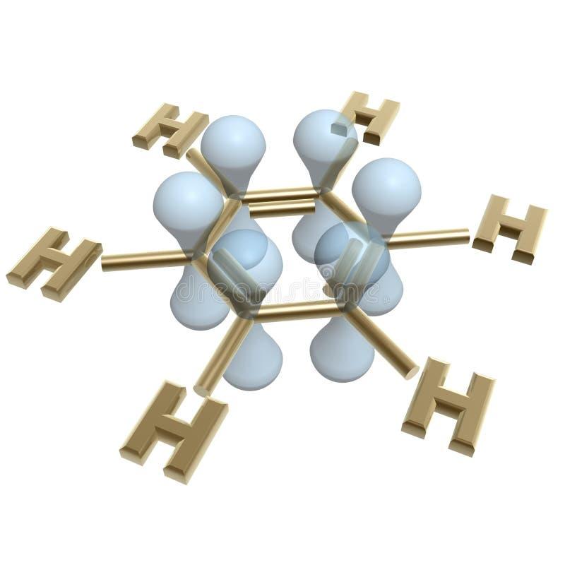 Estrutura do benzeno ilustração do vetor