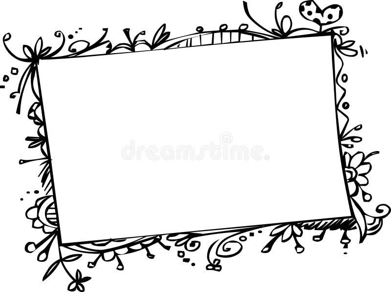 Estrutura do Doodle ilustração do vetor