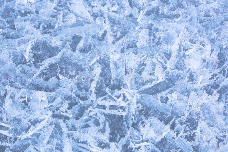 A estrutura do gelo no Lago Baikal fotografia de stock