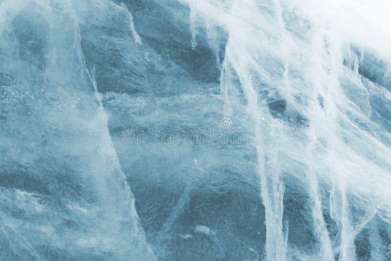 A estrutura do gelo no Lago Baikal imagens de stock