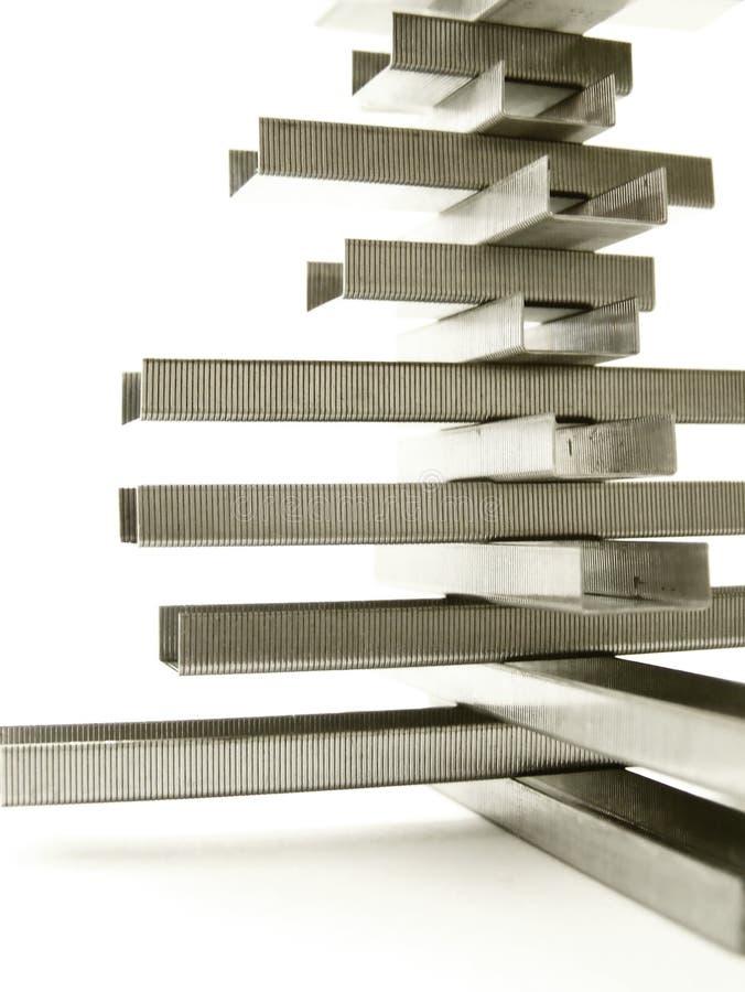 Estrutura do grampo, detalhe vertical fotografia de stock royalty free