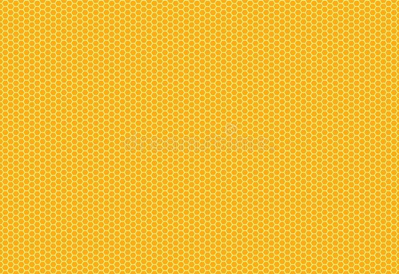Estrutura do hexágono no fundo amarelo Vetor do EPS 10 ilustração do vetor