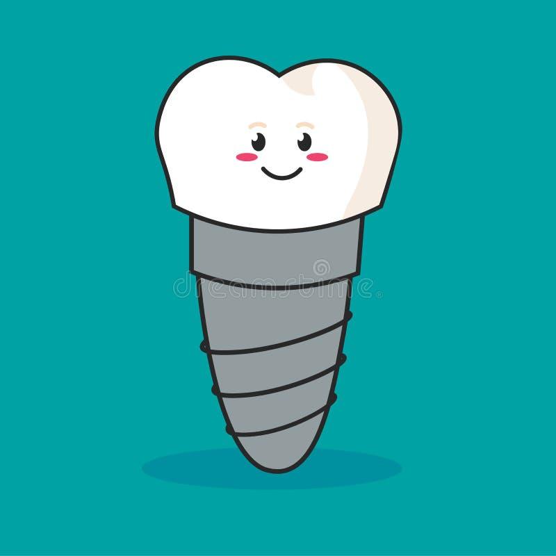 Estrutura do implante dental médica, dentes e conceito do dente de dental ilustração royalty free