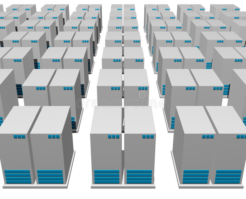 estrutura do server 3d ilustração do vetor