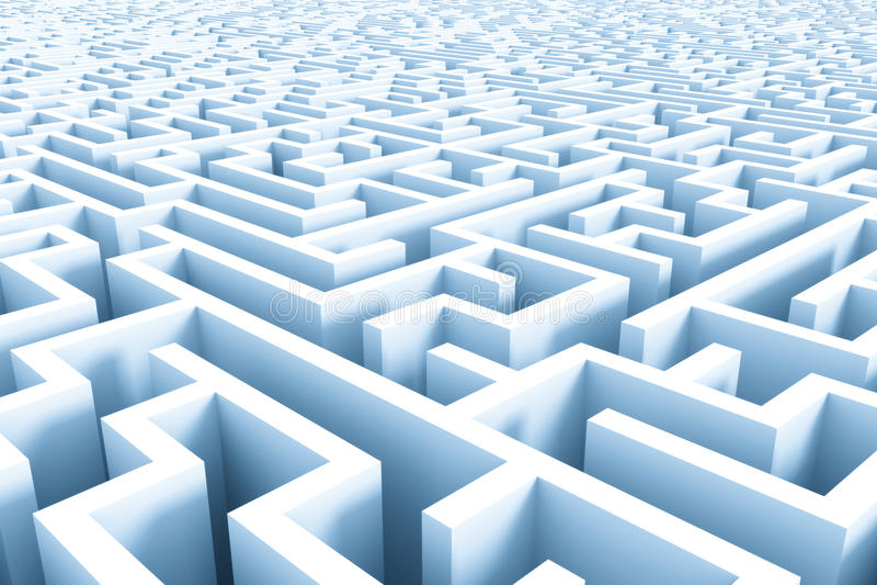 Estrutura enorme do labirinto dos azuis celestes ilustração do vetor
