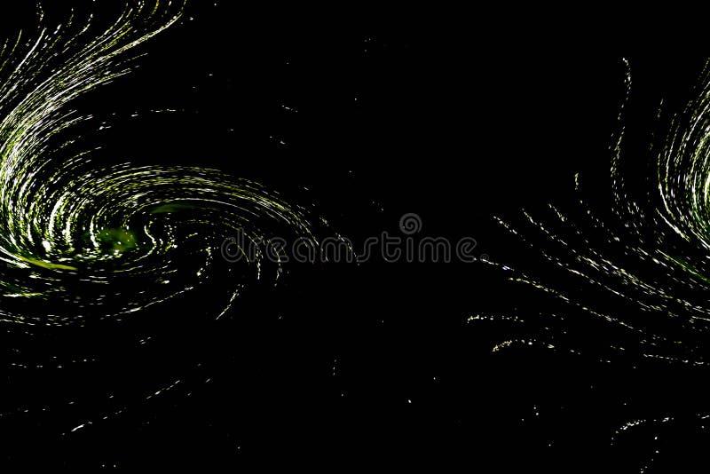 Estrutura espiral dobro do sumário como uma galáxia no universo ilustração stock