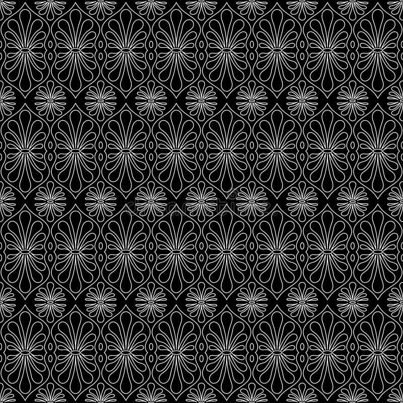 A estrutura floresce o teste padrão sem emenda da textura fotografia de stock royalty free