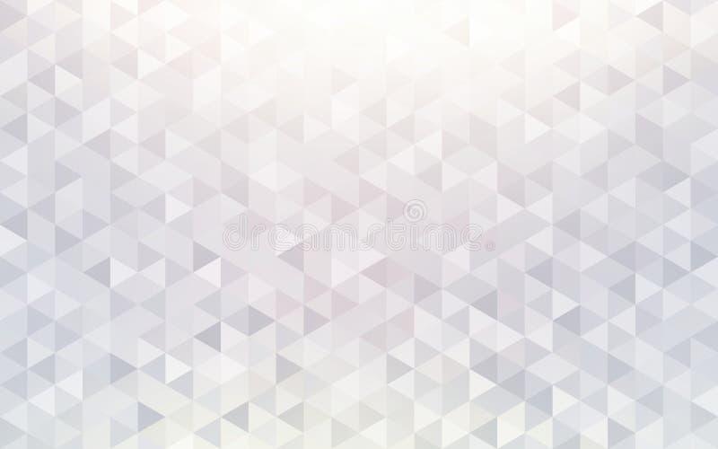 Estrutura geométrica do teste padrão do diamante Fundo branco dos triângulos de cristal da luminosidade ilustração do vetor