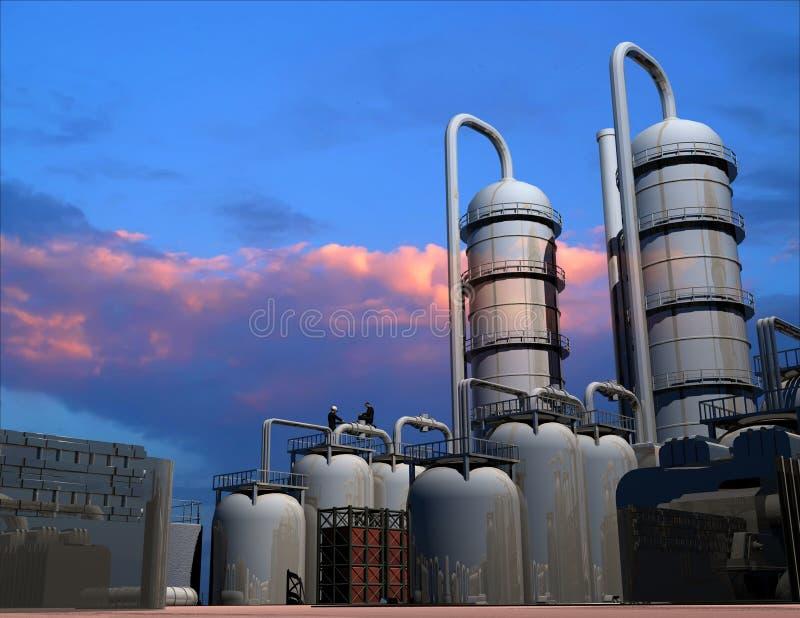 Estrutura industrial ilustração royalty free