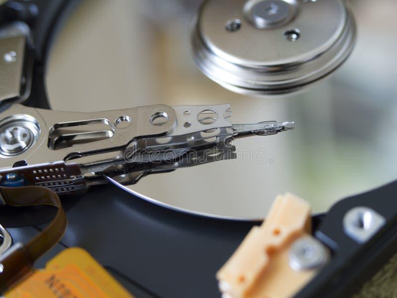 A estrutura interna do close-up do disco rígido fotos de stock