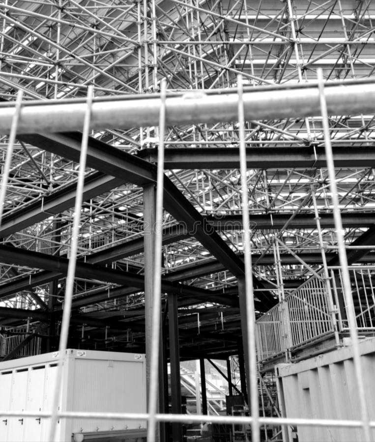 Estrutura metálica de DES Vignerons 2019 das festas do La em Suíça de Vevey foto de stock