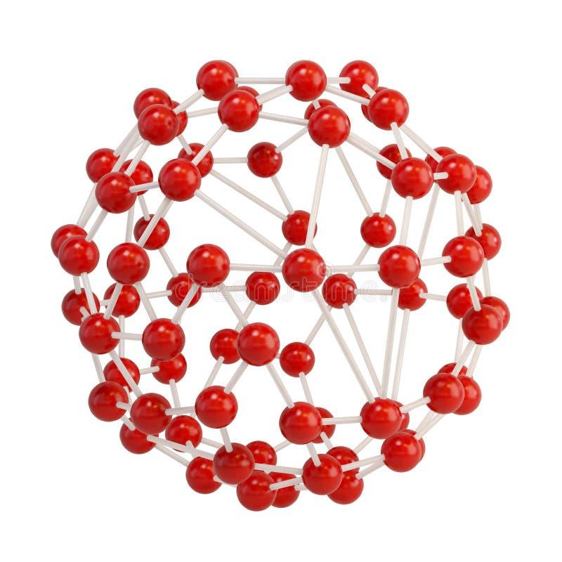 Estrutura molecular abstrata imagem de stock