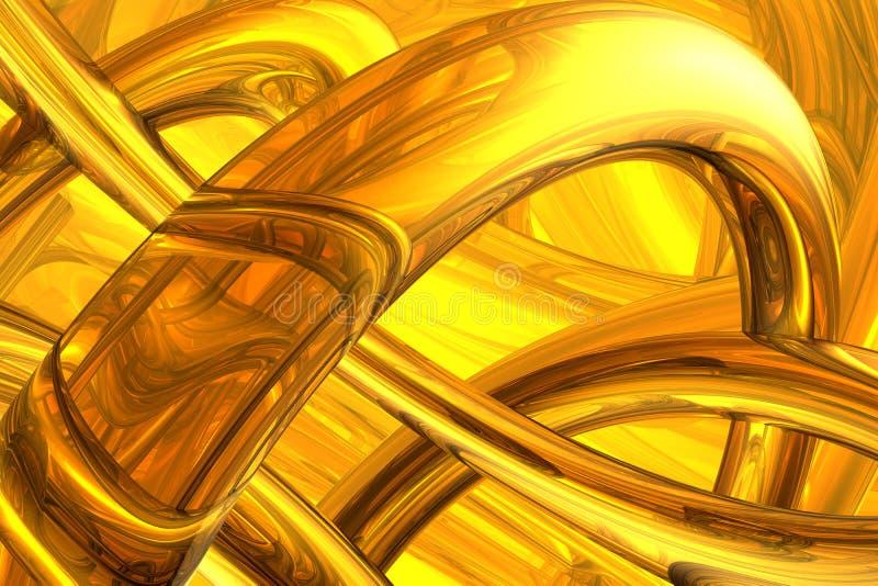 Estrutura molecular abstrata ilustração royalty free