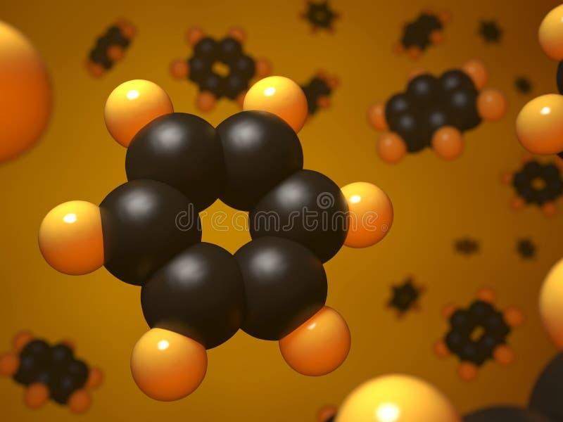 Estrutura molecular do benzeno ilustração do vetor