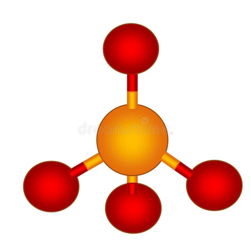Estrutura molecular do fosfato ilustração do vetor