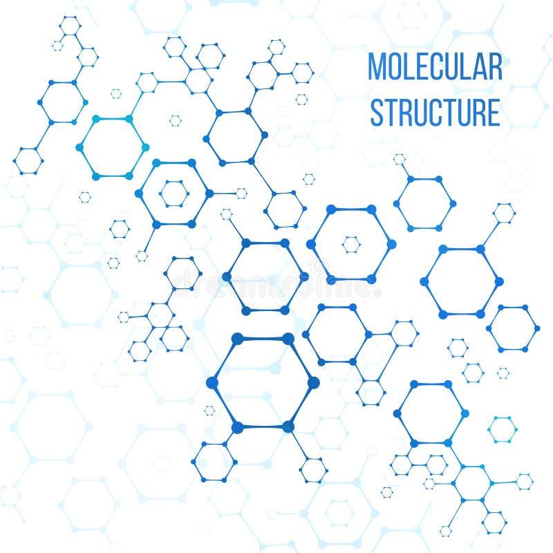 Estrutura molecular ou elementos estruturais do vetor da codificação ilustração royalty free