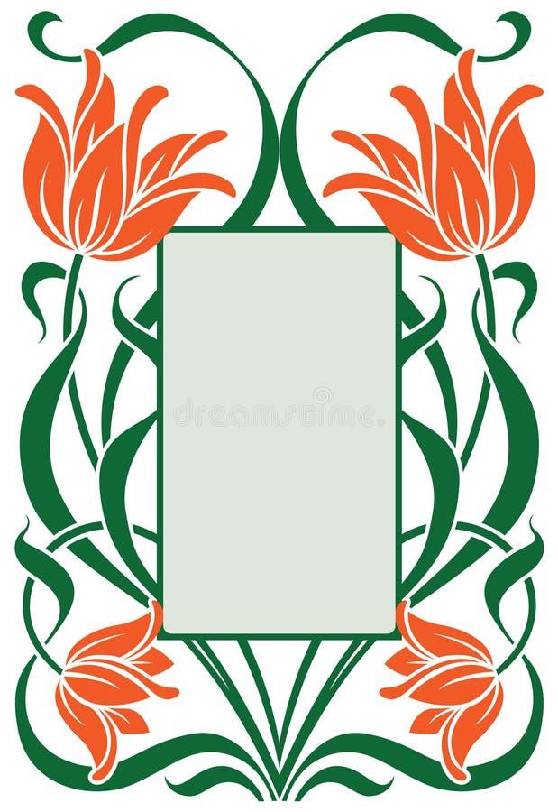 estrutura na arte-nouv do estilo ilustração royalty free