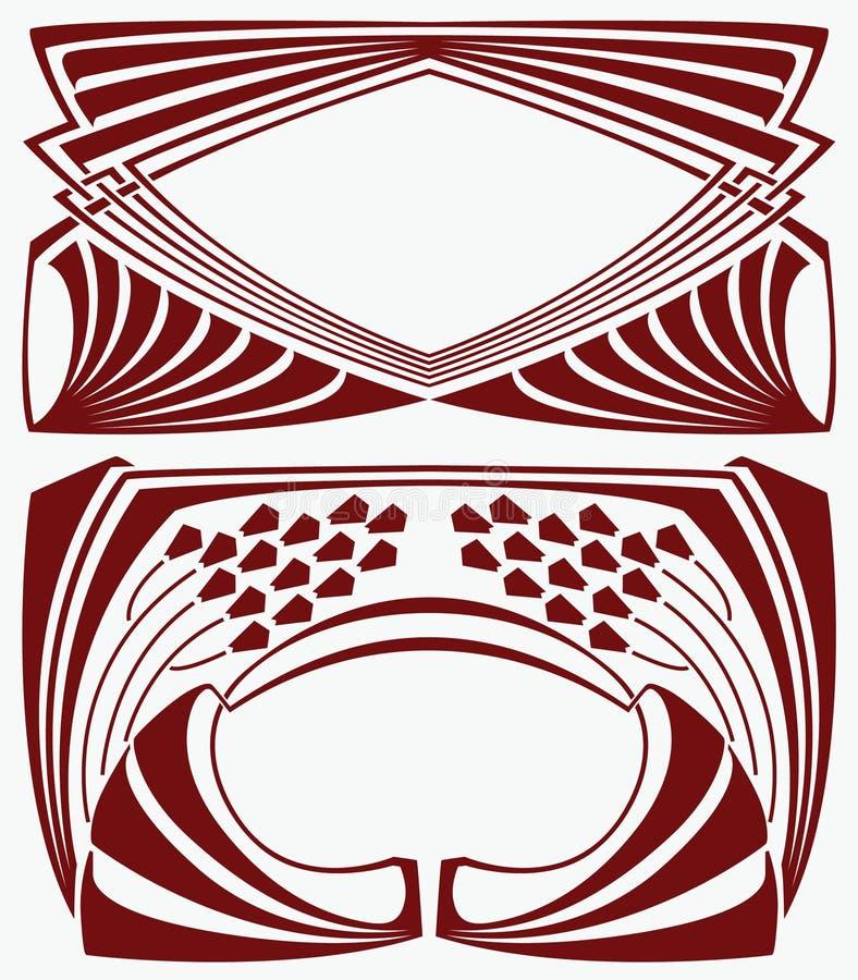 Estrutura na arte-nouv do estilo ilustração do vetor