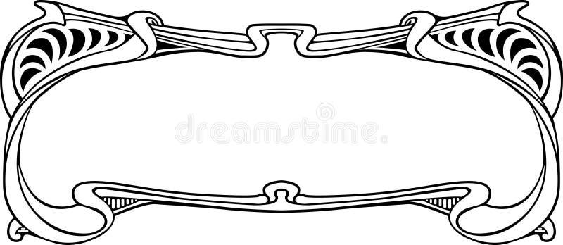 Estrutura na arte-nouve do estilo ilustração stock
