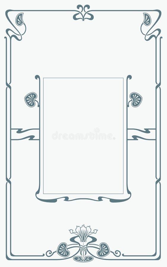 Estrutura na arte-nouveau do estilo ilustração do vetor