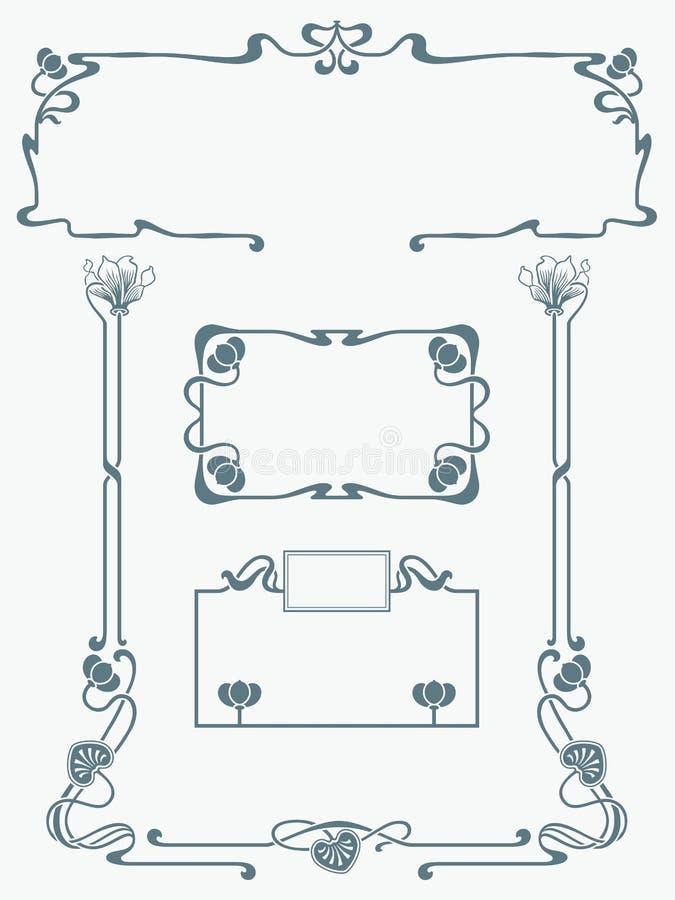 Estrutura na arte-nouveau do estilo ilustração royalty free
