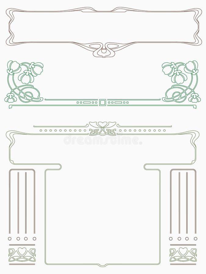 Estrutura na arte-nouveau do estilo ilustração stock