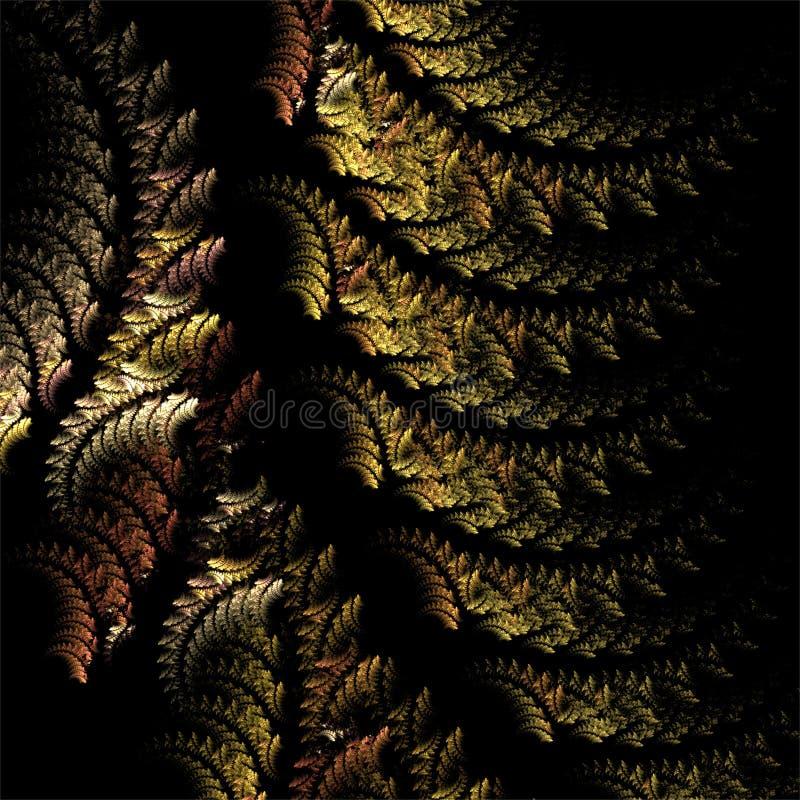 Estrutura oriental de matéria têxtil dos fractals do sumário da arte do fractal do computador de Digitas ilustração royalty free