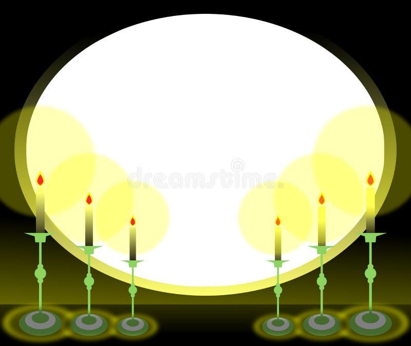 Estrutura oval com velas ilustração royalty free