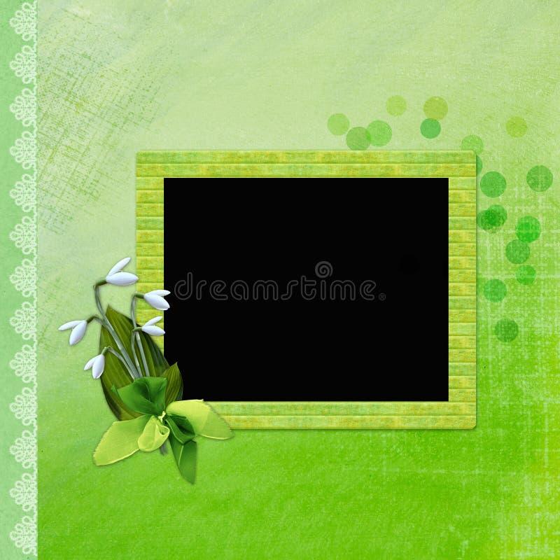 Estrutura para a foto ou as felicitações ilustração royalty free