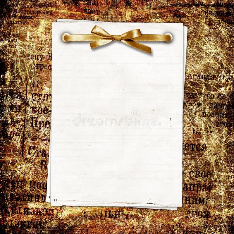 Estrutura para uma foto ou umas felicitações fotografia de stock