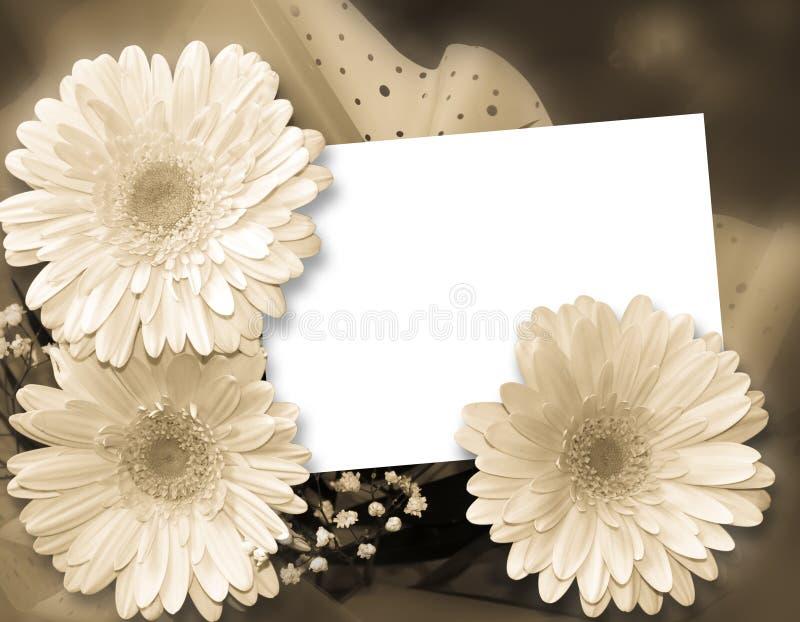 Estrutura romântica para felicitações ilustração stock