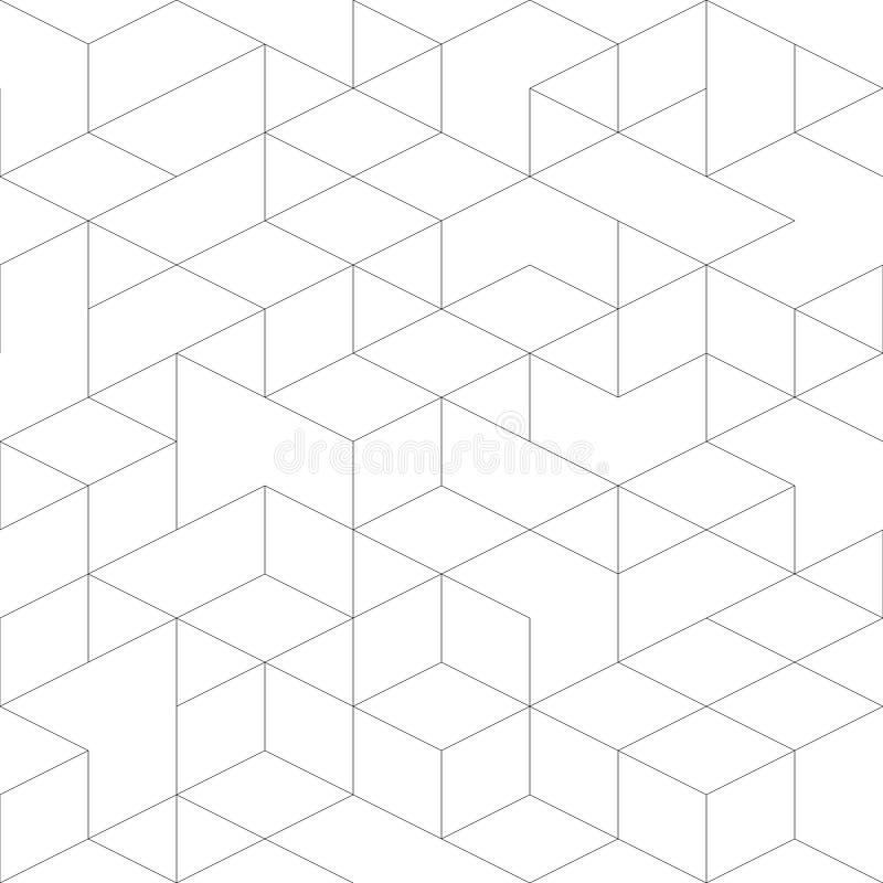 Estrutura sem emenda da conexão Linha moderna teste padrão da arte com linhas de conexão no fundo branco Geométrico abstrato ilustração royalty free