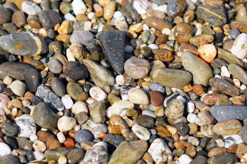 Estrutura típica da areia de muitas praias na Creta fotos de stock