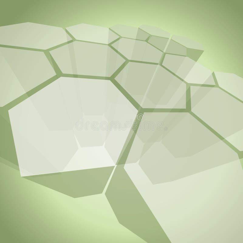 estrutura transparente do polígono 3D - vetor abstrato do fundo ilustração stock