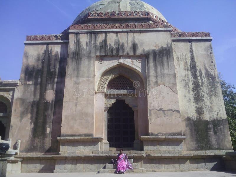 Estrutura velha em Hauz Khas fotos de stock