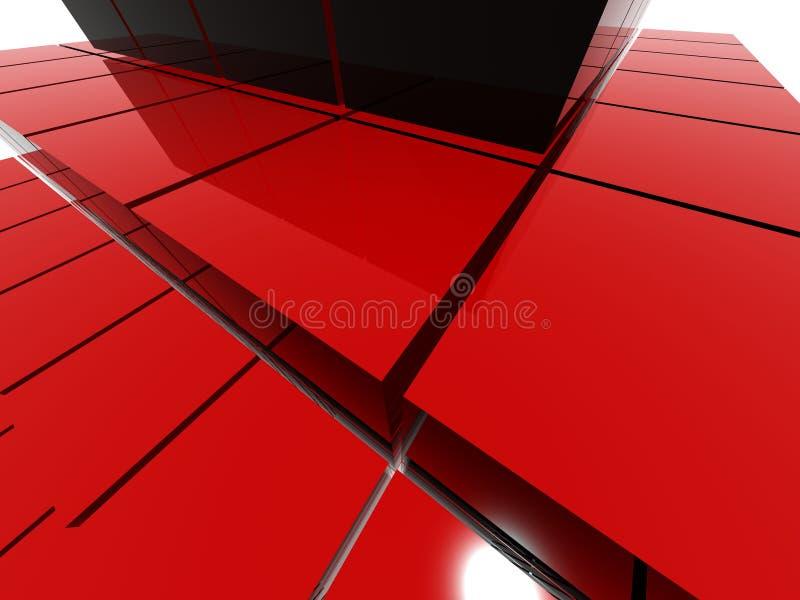Estrutura vermelha da pirâmide do raytrace ilustração royalty free