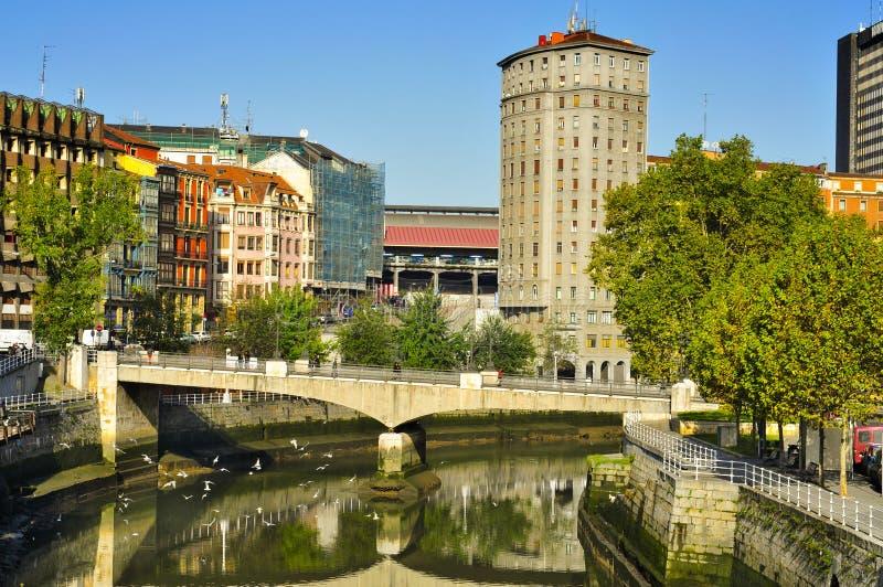 Estuário de Bilbao, em Bilbao, Spain imagem de stock royalty free