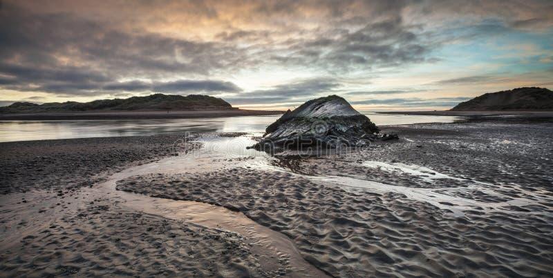 Estuaire et épave de Ythan en Ecosse photos libres de droits